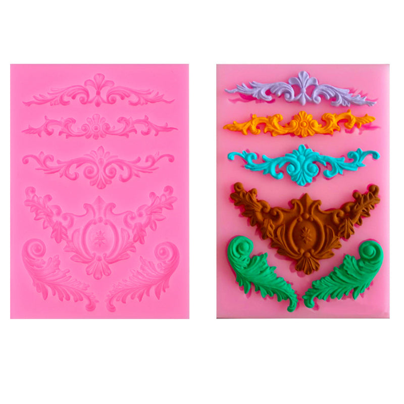 Relief Lace Silicone Cake Mold Mould Bakeware for Desserts Mousse Muffin Chocolate Decoration(L*W: 13*9cm) - cake decorations ideas
