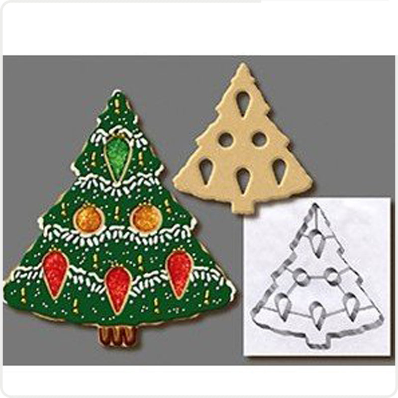3d Christmas Tree Snowflake Gingerbread Cookie Cutter Tools Stainless Steel Gingerbread Shaped Biscuit Mold Kitchen Cake Tools