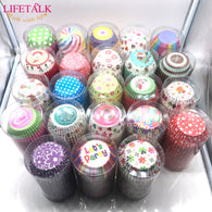 LIFETALK 500 Pieces Wedding Baking Molds Birthday Cake Decorating Tools Muffin Cases Paper Cupcake Cups - cake decorations ideas