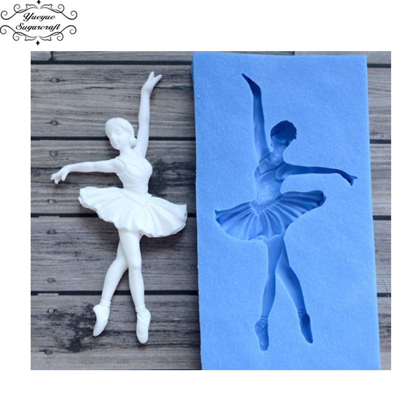FREE Sugarcraft Dancer Silicone Mold Fondant Mold Cake Decorating Tools Chocolate - cake decorations ideas