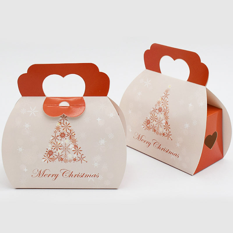 10pcs Christmas Tree Portable Cassette Christmas Supplies Cake Boxes Candy Packages Biscuit Box Christmas Handbag Gift Boxes - cake decorations ideas