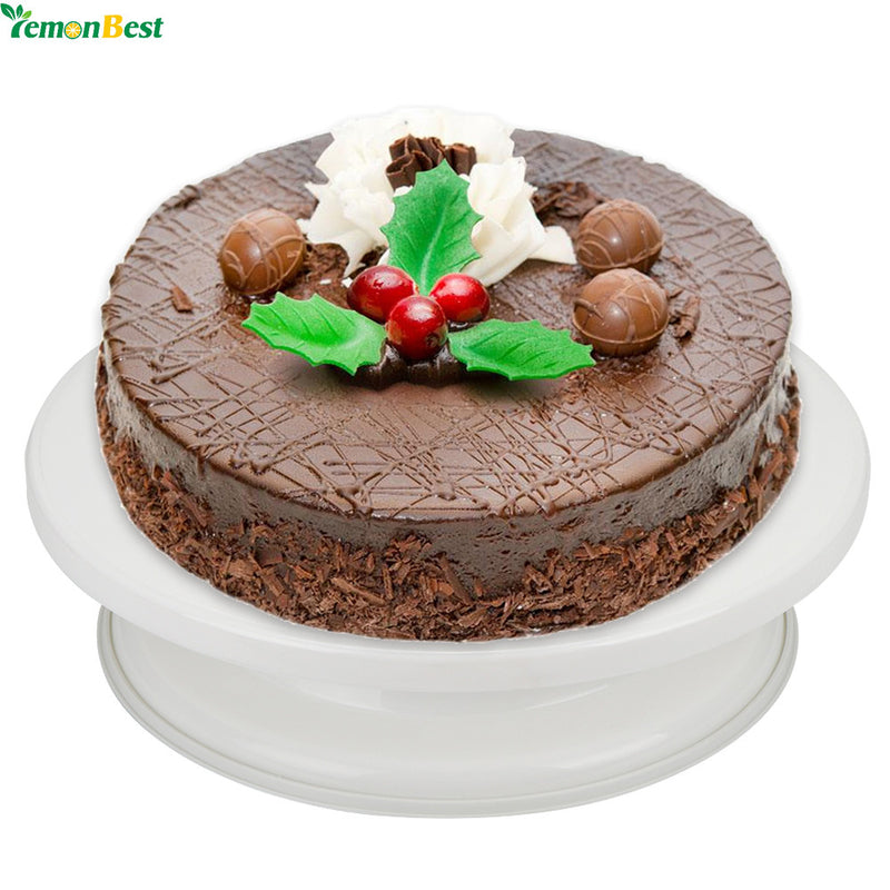 Cake Swivel Plate Revolving Decoration Stand Platform Turntable 28cm Round Rotating Cake Swivel Christmas Baking Tool - cake decorations ideas