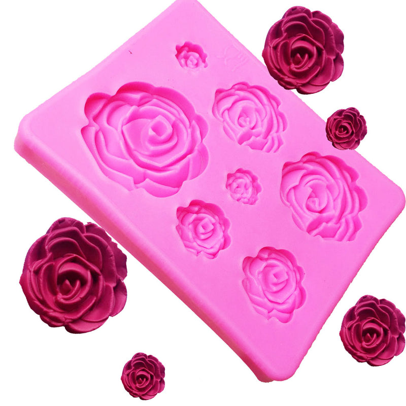 free 3d silicone mold rose shape mould for cake decorating cake