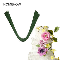 Homehow 10PCS/Lot Green Color Cake Decorating Flower Modelling Iron Wire Dia 1.2mm L 60cm Sugarcraft Fondant Flower Making Tools - cake decorations ideas
