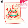 3D Handmade Custom Birthday Invitations Cards Wishes Messages Greeting Gift Cards Postcards Vintage Laser Cut Pop Up Cake - cake decorations ideas
