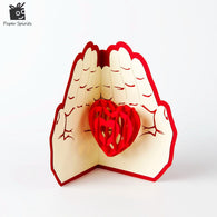 Valentines Day Gift Love in the Hand 3D Pop up Greeting Card Postcard Matching Envelope Laser Cut Handmade Birthday Post Card - cake decorations ideas