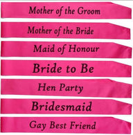 1 PCS Pink bachelorette party accessories Hen Night Stain Sashes Hen Party and Bride to Be for bride Wedding Party Decoration - cake decorations ideas
