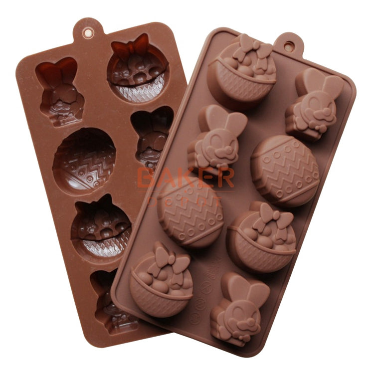 Silicone mold DIY chocolate mold eggs Easter Bunny ice cube basket die shape cake mold SICM-008-2 - cake decorations ideas