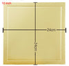 5pcs/lot  Creative fashion Square golden cardboard 6~10inch cake tray utility baking paper baking tools - cake decorations ideas