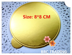 Size 8*8 cm Gold Round Cake Base Board of Bakeware, Cake Mould Tool Mousse Cake Board - cake decorations ideas