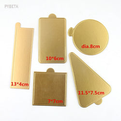 100pcs- Gold Mousse Cardboard Base Pad Mousse Cake Paper Tray Holder Multi Shapes available - cake decorations ideas