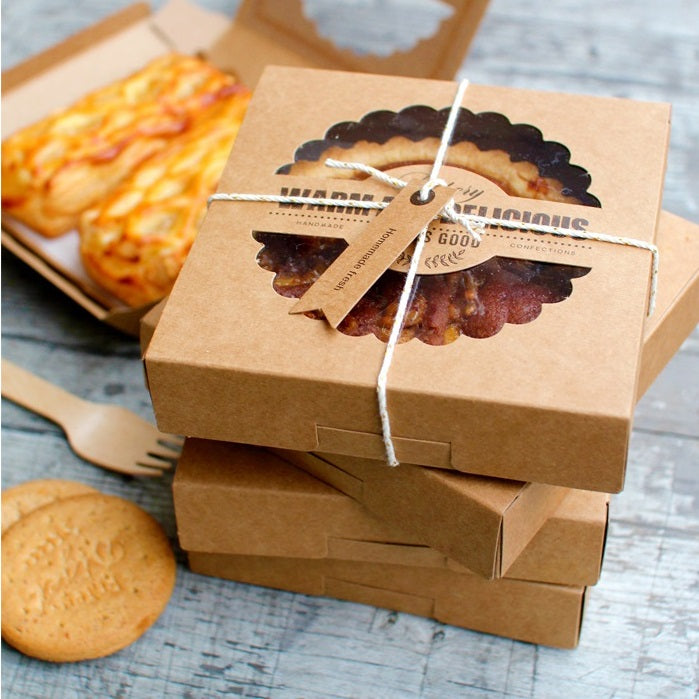 New Arrival 16.5*16.5*4cm 10 Pcs Kraft Paper Box For Pie Pizza Cheese Use Party Decoration Holiday Birthday Cheese Packaging - cake decorations ideas