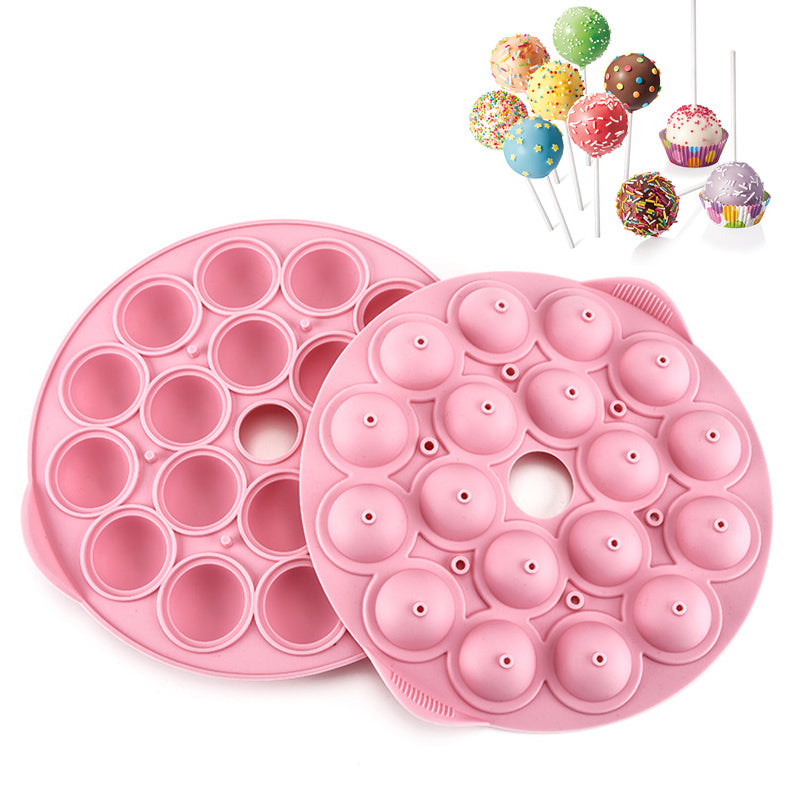 18 Cavity Silicone Cake Pops Mold Cupcake Lollipop Mold Chocolate Mold Cake Pop Stick Mould Tray Kitchen Baking Tools - cake decorations ideas