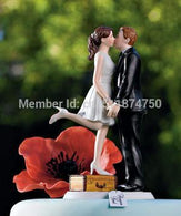 Romantic Kissing Couple Figurine wedding cake topper - cake decorations ideas