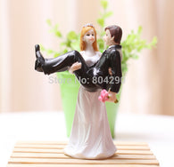 Party Decoration Bride Holding Groom Resin Figurine Wedding Cake Toppers - cake decorations ideas