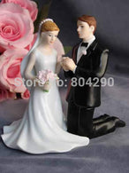 Kneeling Couple Figurine Cake Decoration Wedding Resin Cake Topper - cake decorations ideas