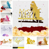 20Set/lot Romantic Bride Groom Mr Mrs Cupcake Toppers Pick love couple happy family birthday party Wedding decoration Cake Flags - cake decorations ideas