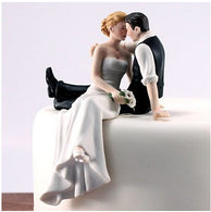 Bride and groom kissing cake toppers wedding party supplies - cake decorations ideas