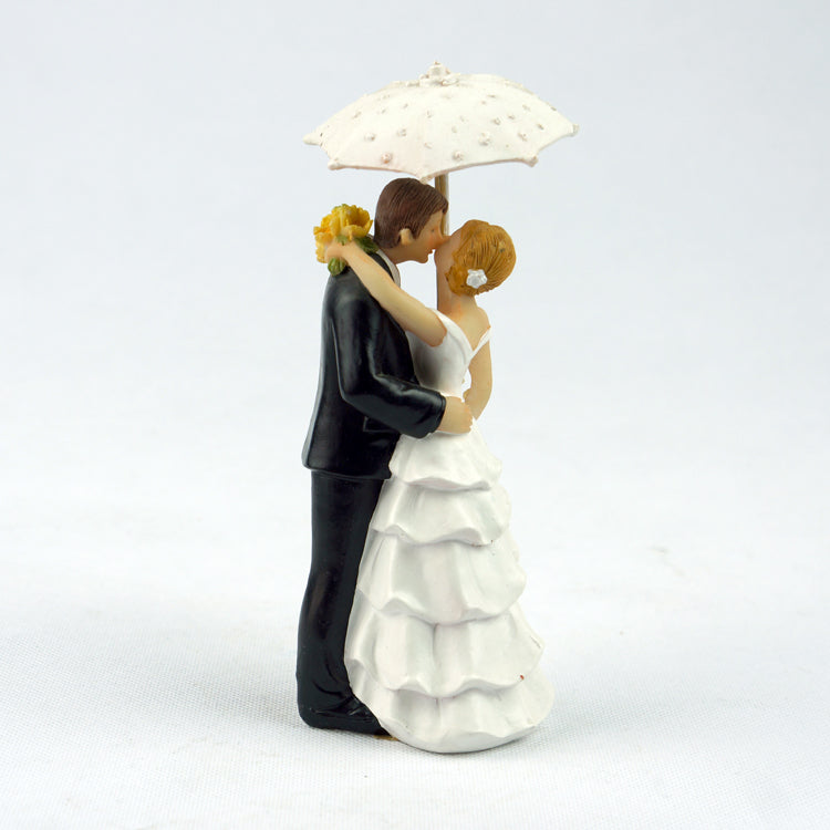Showered with Love Couple Figurine Bride Groom Wedding Cake Topper - cake decorations ideas
