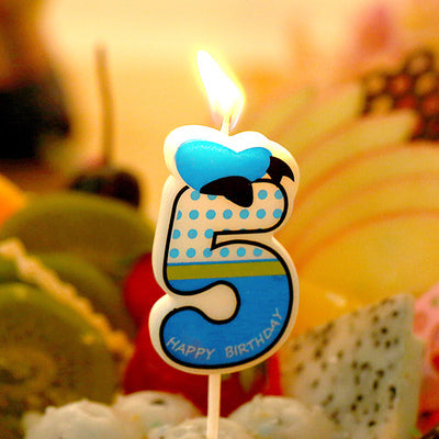 Birthday Number Candles Cartoon Minnie Donald Duck Candle Cake Cupcake Topper Party