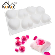 8 Holes Love Heart Shaped Cake Mold Silicone Molds Bakeware Baking Pastry Tools For kitchen Cake Decorating tools,confeitaria - cake decorations ideas