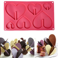 1PCS New 3D Heart Shape Chocolate Silicone Mold Bakeware 6 Cups Cake Cookie Icecream Sweet Cake Tools Wholesale - cake decorations ideas