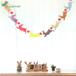 Party Supplies Cute Rabbit Non-woven Bunting Star Garland Wedding Party Decoration Easter Decoration Birthday Party Decor Kids,Q - cake decorations ideas