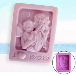 Mother Holding Baby Love Mom Craft Silicone Soap Mold Craft DIY Molds Cake Baking Mold Mothers Day Gift - cake decorations ideas