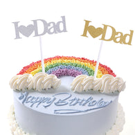 I Love Dad Cupcake Cake Topper Glitter Shimmer Birthday Fathers Day Party Decor Birthday Party Cake Baking Decoration Supplies - cake decorations ideas