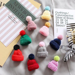 12pcs Miniature Crochet Hat Baby Shower Mini Knitting Ornament Cap Favors Baptism Boy Girl For Decorations YYY9481 - cake decorations ideas