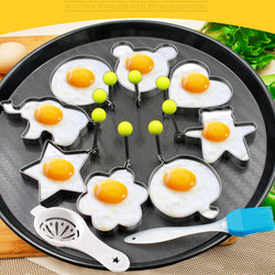 10PCS Stainless Steel Egg/Pancake Ring Omelette Mould - cake decorations ideas