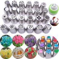 24 Pieces Russian Stainless Steel Icing Piping Nozzles
