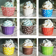 Paper cupcake,muffin cupcake paper cups,mix designs 200pcs,polka dot cupcake liners,cake tools - cake decorations ideas