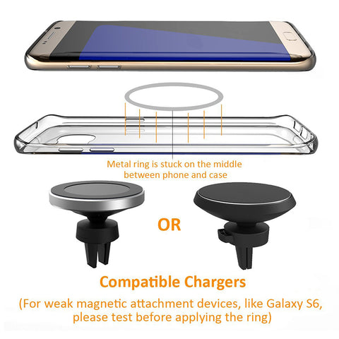 Magnetic Wireless Charger For Iphone 8 Iphone X Samsung S8 S8 Plus S7 Edge S7