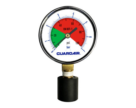 Pressure Gauge With Rubber Tip 0-100 Psi
