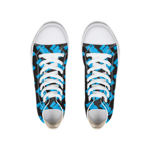logo_Blue on Black Hightop Canvas Shoe - Herban Apparel