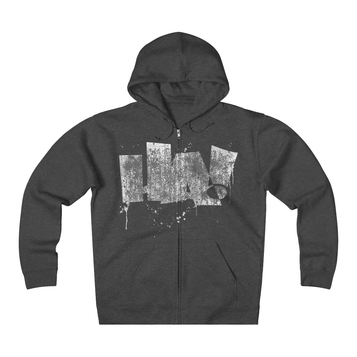 Grunge HA! - Unisex Heavyweight Fleece Zip Hoodie - Herban Apparel