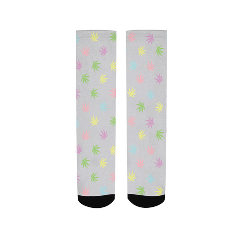 Pastel Leaves Men's Socks - Herban Apparel