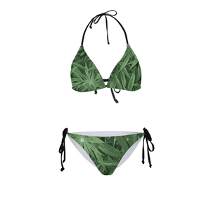 leaf-flower vector look Womens All-Over Print Bikini - Herban Apparel