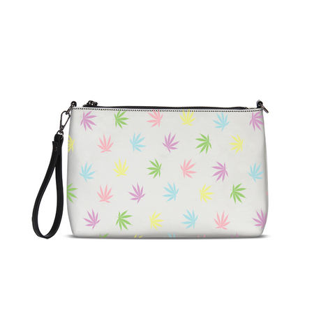 Pastel Leaves Daily Zip Pouch - Herban Apparel