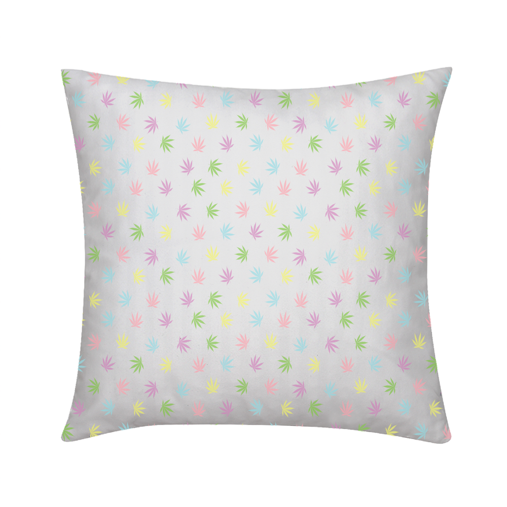 "Pastel Leaves Throw Pillow 16""x16"" - Herban Apparel"