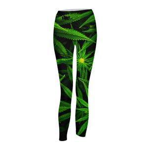 early flower print Womens Yoga Pants - Herban Apparel