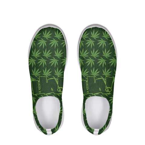 Leaf and Logo - SLIP ON FLYKNIT shoe - Herban Apparel