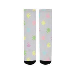 Pastel Leaves Women's Socks - Herban Apparel