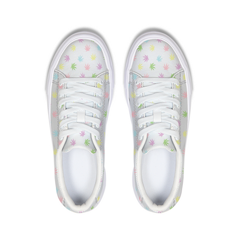 Pastel Leaves Sneaker - Herban Apparel