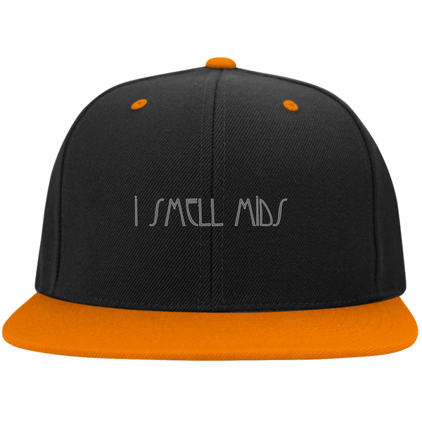 I SMELL MIDS - Flat Bill High-Profile Snapback Hat - Herban Apparel