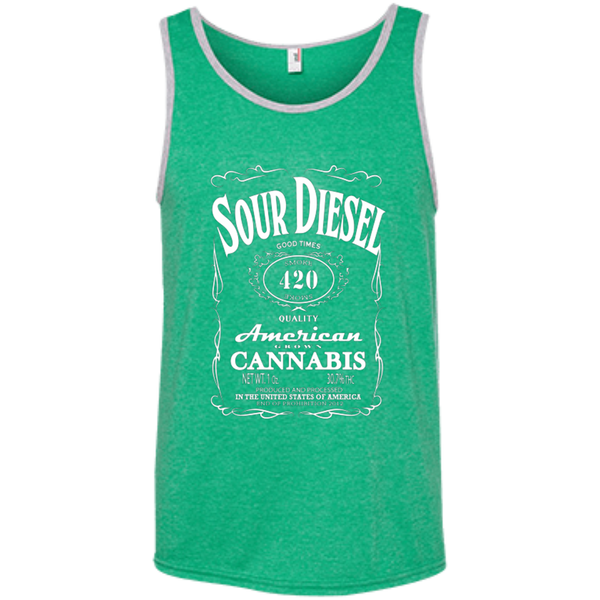 SOUR DIESEL - Ringspun Cotton Tank Top - Herban Apparel