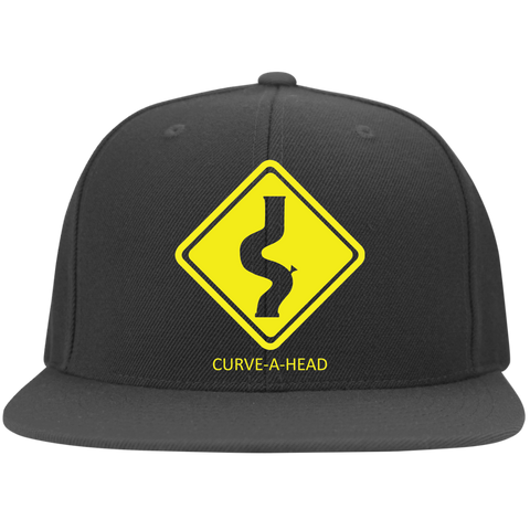 Curve-a-Head - Flat Bill Twill Flexfit Cap - Herban Apparel
