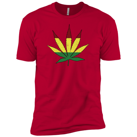 Distressed Rasta Leaf -   Premium T-Shirt - Herban Apparel
