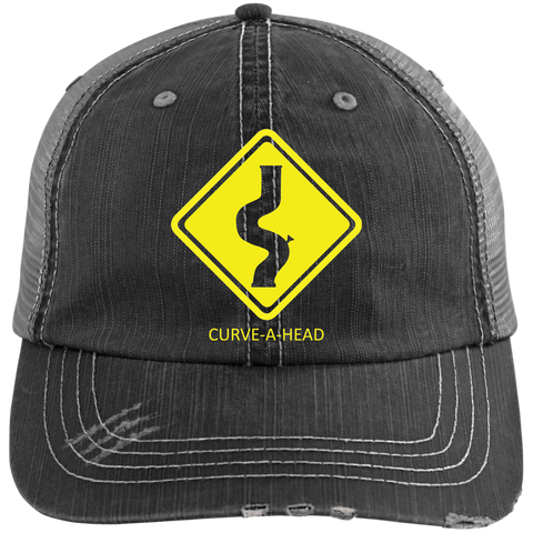 Curve-a-Head - Distressed Trucker Cap - Herban Apparel